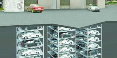 长沙建国内最深地下立体车库 汽车坐电梯直入地下40米