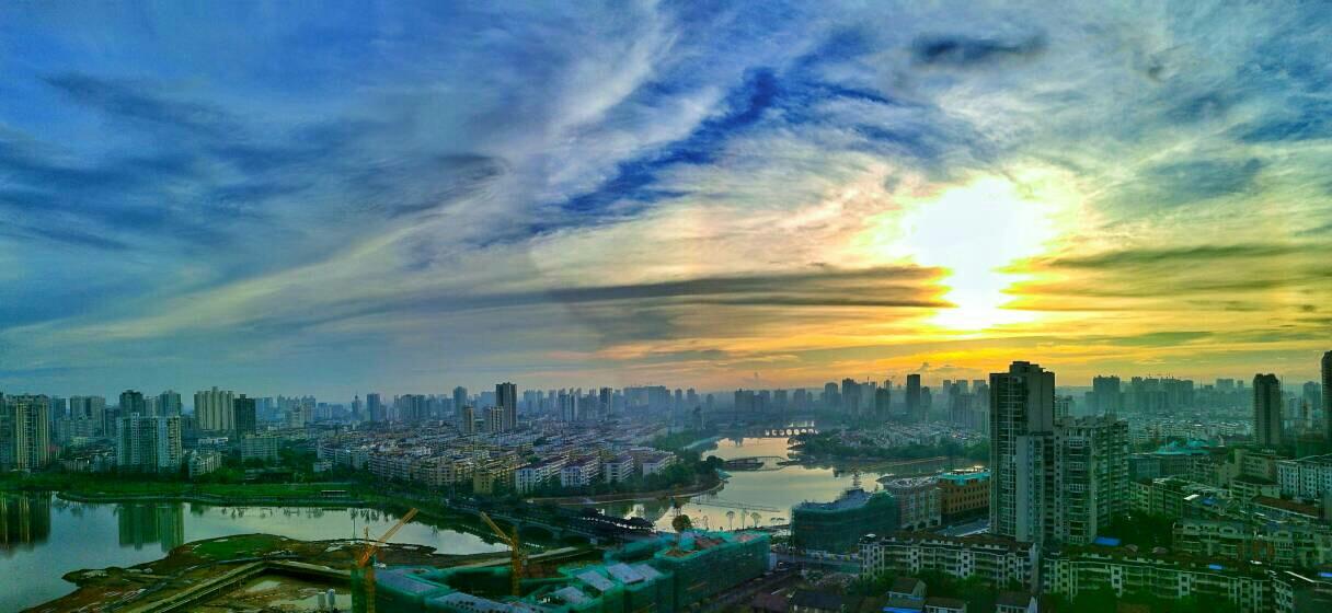 穿紫河上落霞美_新湖南网小学哈尔滨市兆麟群力图片