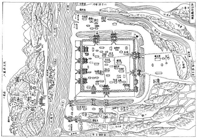 手绘旅行地图 长沙
