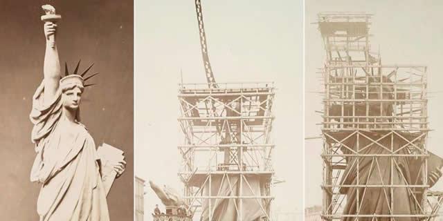 揭秘美国自由女神像建造全过程