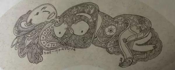 动物线描画大象