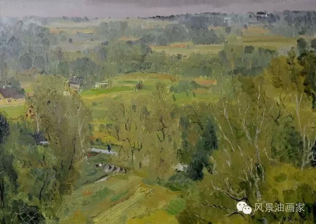肖育俄罗斯风景油画写生作品