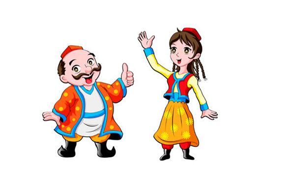 """在""""民族团结一家亲""""结对帮扶活动中,父亲援助了一个维吾尔族小姑娘."""