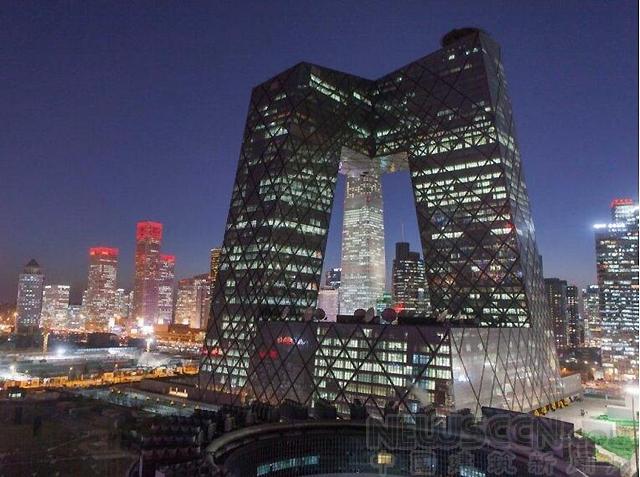 中央电视台总部大楼,位于北京商务中心区,内含央视总部大楼