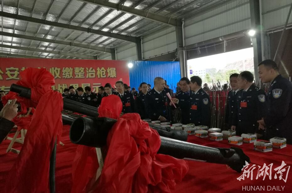 [永州] 截至11月15日,湖南公安机关共收缴各类枪支7453支