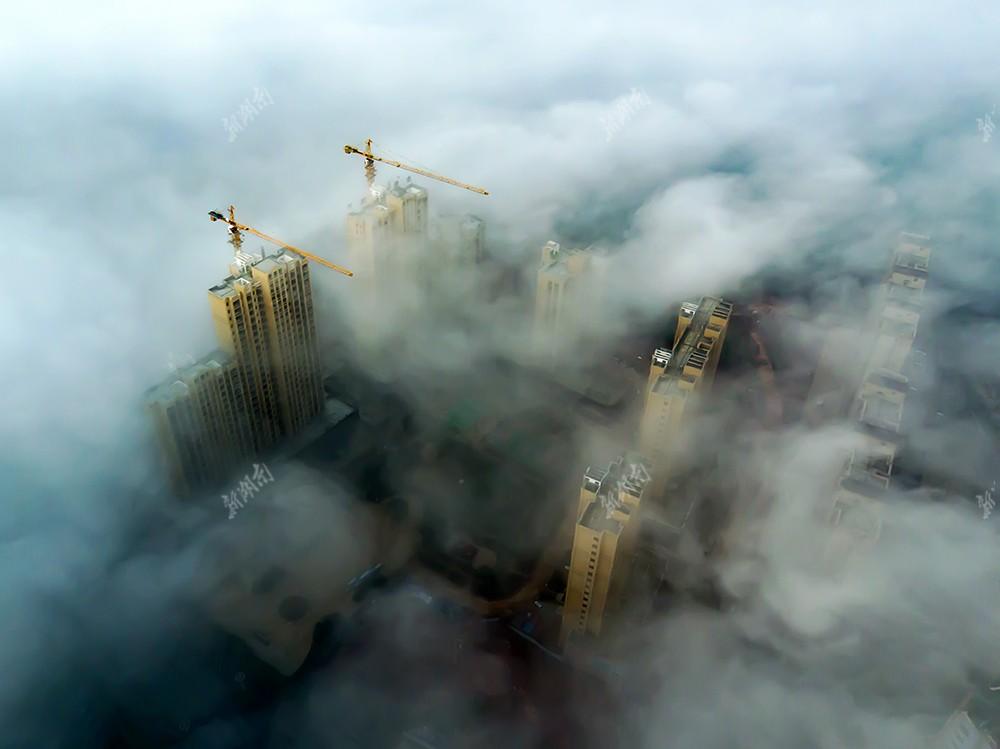 云雾缭绕安仁城