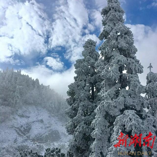 [永州] 阳明山首场降雪迎来永州最美冬天