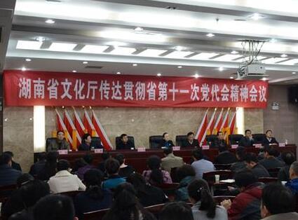 湖南省文化厅传达贯彻省第十一次党代会精神