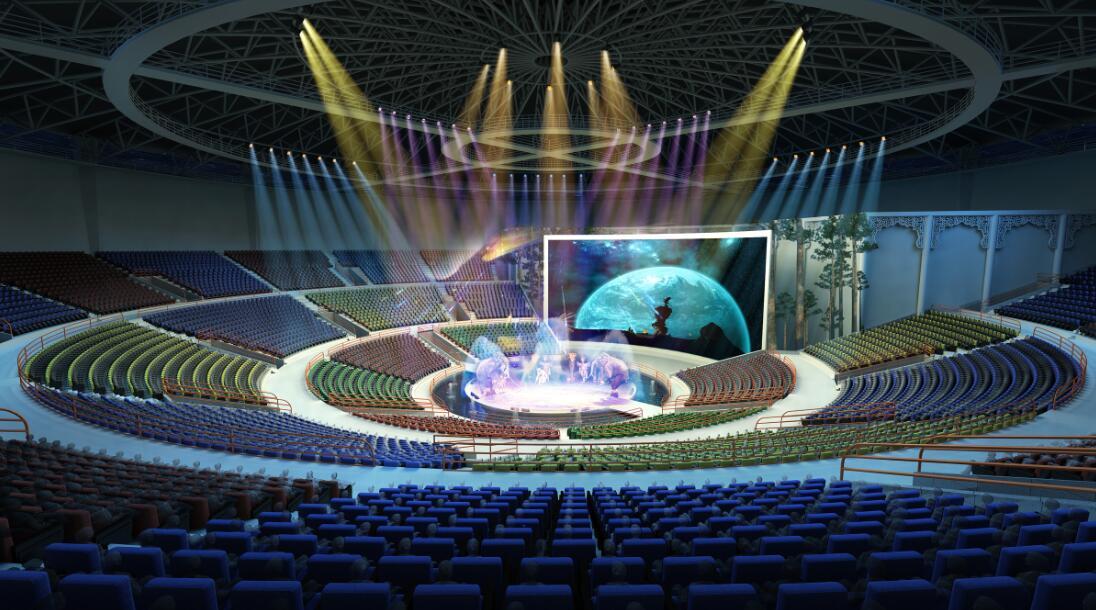 张家界大成俄罗斯国际马戏城设计效果图 张家界大成山水酒店董事长毛致平表示,公司将投入巨资,采用世界最先进的灯光、音响设备等,将马戏城建成全世界规模最大、档次最高、科技含量最新的马戏表演场馆,并借助张家界世界级的旅游市场,每年举办国际马戏艺术节,促进中俄文化的深入交流,助推张家界走向世界。 点击这里,查看更多项目细节。