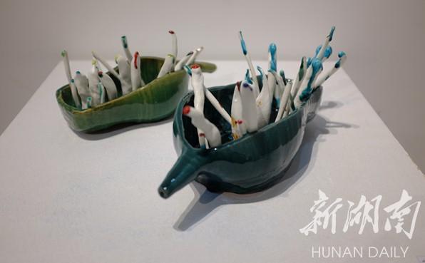 首届湖南大学生创意陶艺作品展在长沙开幕