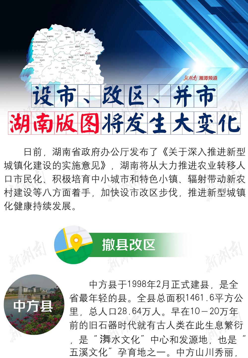 湖南版图将发生大变化:湘潭县有望撤县改区