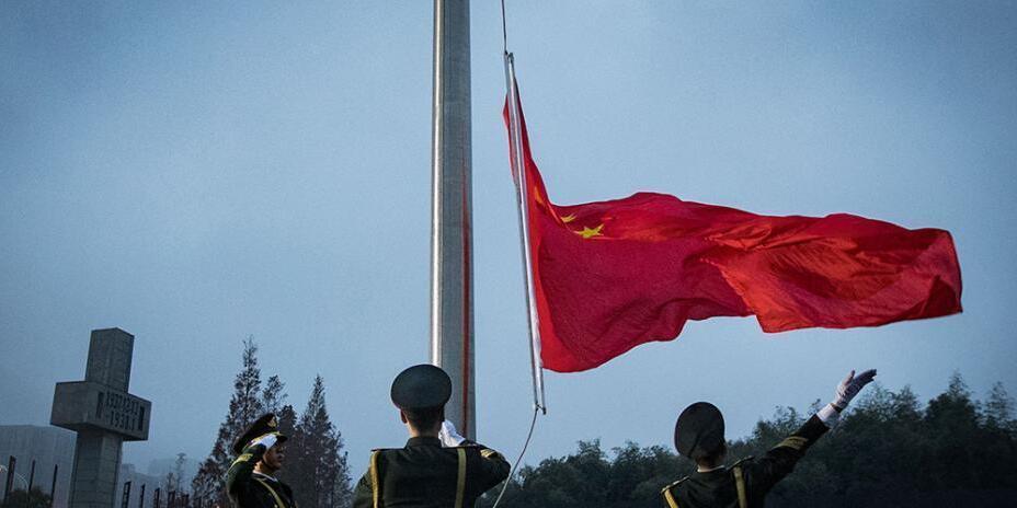 国家公祭日 侵华日军南京大屠杀遇难同胞纪念馆降半旗