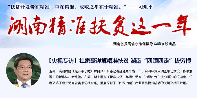 """【专题】湖南精准扶贫这一年 """"四跟四走""""拔穷根"""