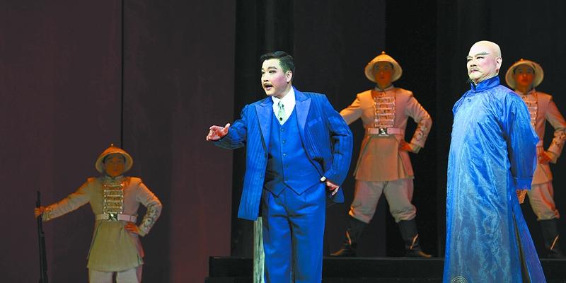 湘剧《护国》在湖南大剧院首演 再现蔡锷伟绩