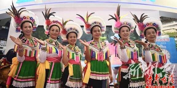 台湾台东展区的阿美族服饰很亮眼