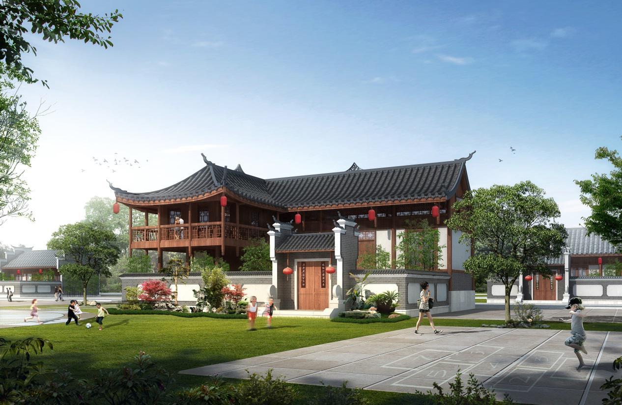 建筑材料上,选用青石材,木材,灰瓦等本地传统建筑材料;空间设计上