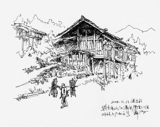 湘江 读书     长沙化龙池      文丨聂浩      钢笔风景速写的艺术魅