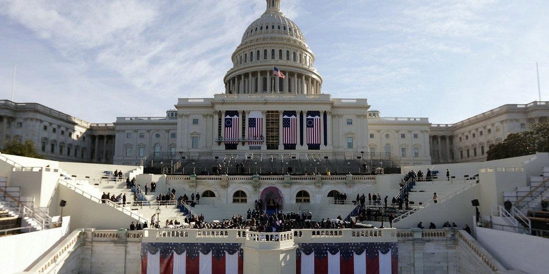 美国国会山举行特朗普就职仪式彩排