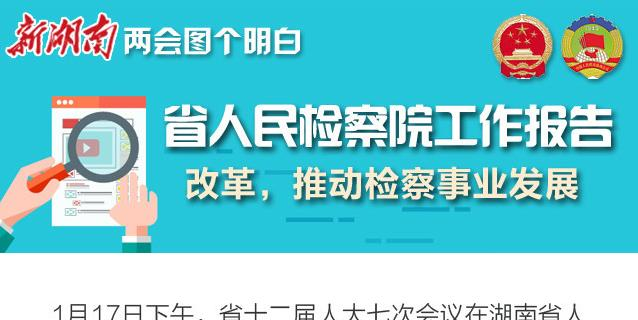 新湖南两会图个明白|省人民检察院工作报告