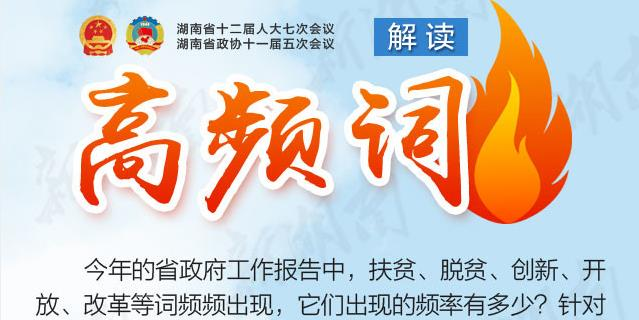 新湖南数据新闻丨省政府工作报告高频词解读