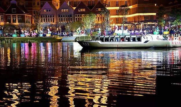 依托水城特色与优势,精心打造的常德河街,德国风情街等城市休闲