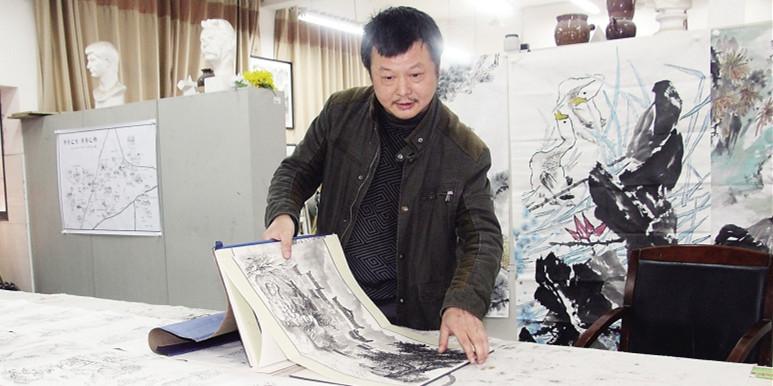 宁乡一美术老师手绘宁乡全域旅游地图 让你看懂73景点