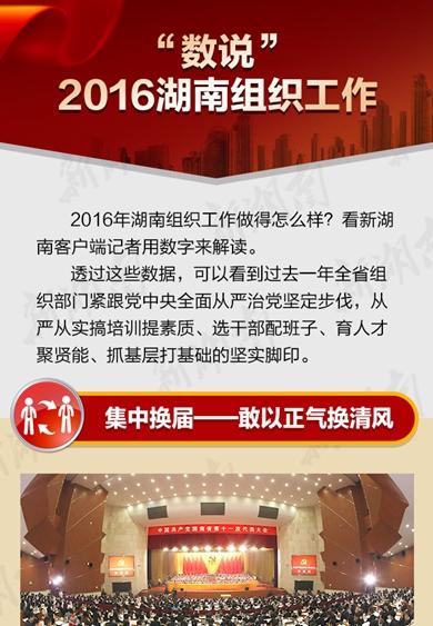 """一图读懂丨""""数说""""2016湖南组织工作"""
