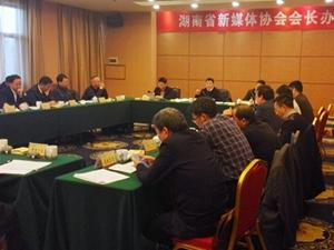 湖南省新媒体协会学习贯彻省领导与湘籍互联网企业家座谈会精神