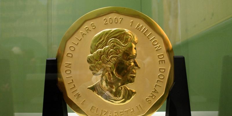 德国:世界最大金币被偷 重达100公斤价值100万美元