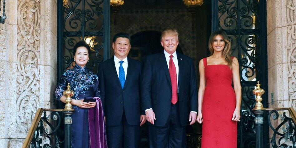 习近平同特朗普首次举行会晤