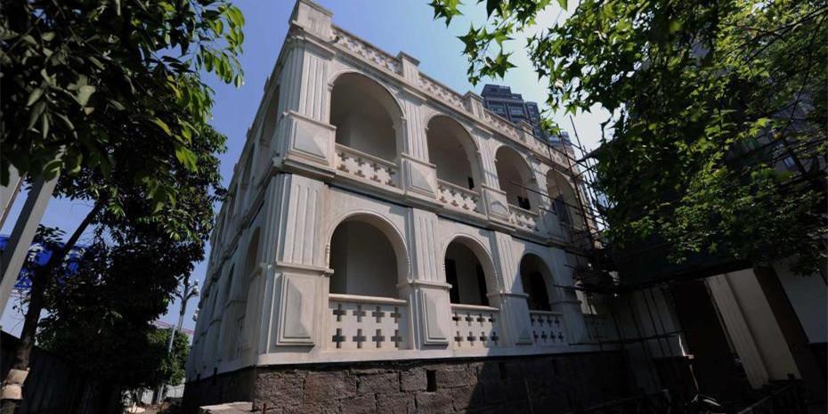 重庆法国水师兵营旧址现法国人修筑的供水系统