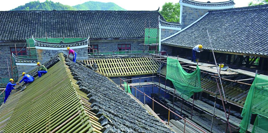 怀化洪江修缮宝山书院800年古建筑