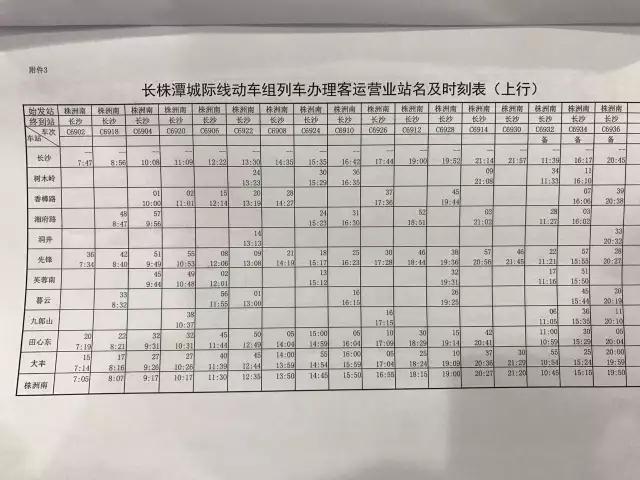 快讯!长株潭城铁再调运行图!车次增加,运行时间