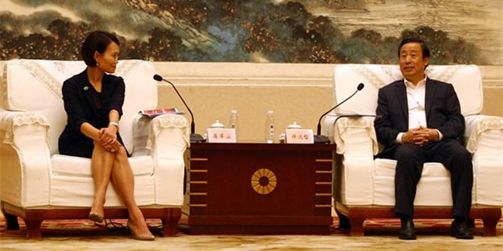 许达哲率团参加第十届中博会