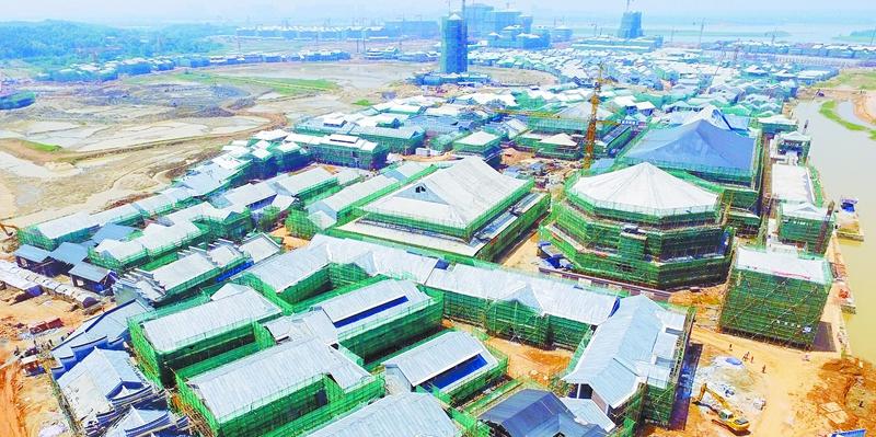 长沙铜官窑度假区一期主体工程完工