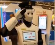 迪拜首位机器人警察正式上岗