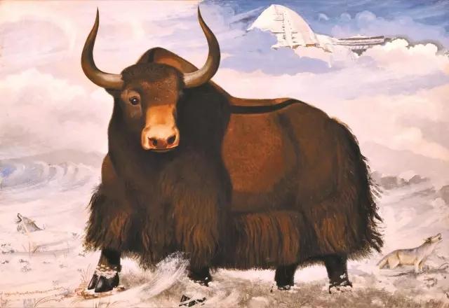 大师油画作品动物