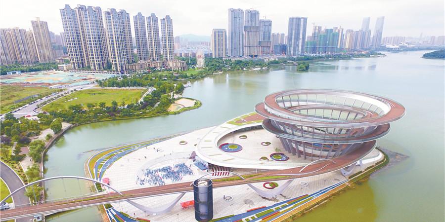 长沙梅溪湖城市岛双螺旋观景平台免费对外开放