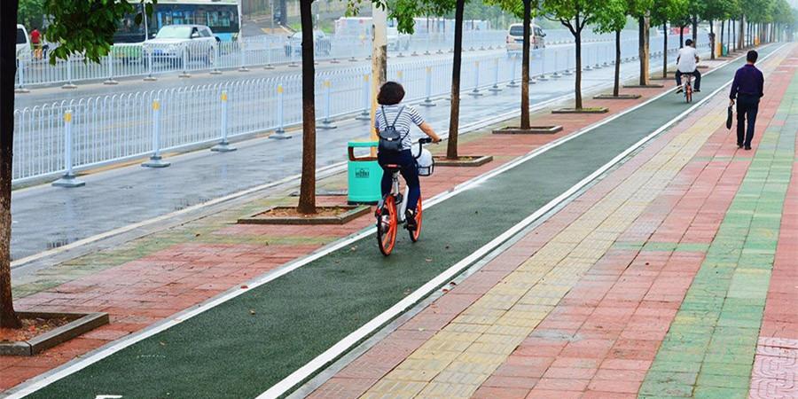 长沙城南省府周边慢行道改造雨花段率先竣工