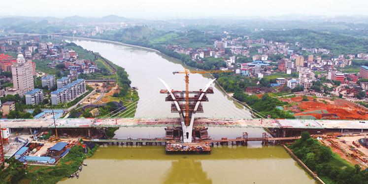 邵阳雪峰大桥合龙贯通