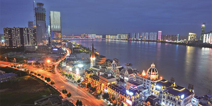 湘江西岸崛起长沙外滩