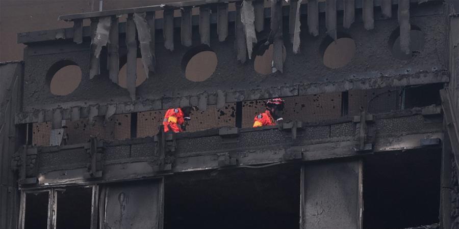 伦敦居民楼火灾死亡人数升至30人