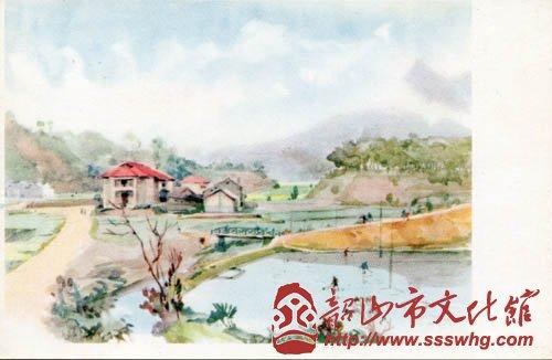展览作品中有不少水彩画作品,内容有静物,也有风景.