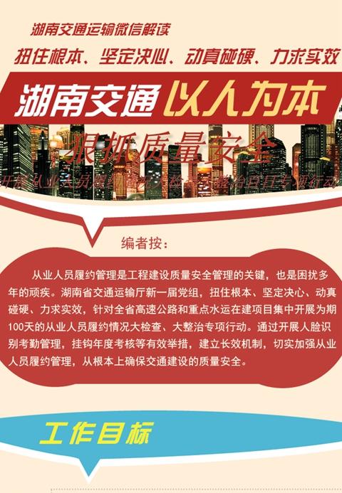 一图看懂湖南交通的专项整治行动