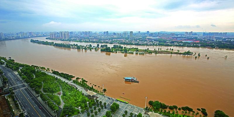 洪峰过境湘江衡阳段