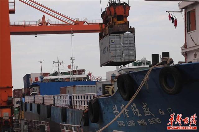 【共舞长江经济带】武汉新港吞吐量破百万标箱 增幅再创新高