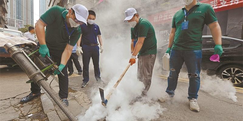 """长沙市天心区""""烟雾炮弹""""除害防病"""