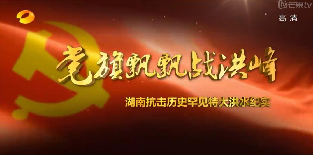 《党旗飘飘战洪峰》――湖南抗击历史罕见特大洪水纪实