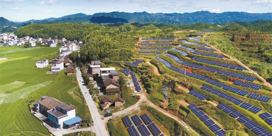 资兴市18个省级贫困村布局光伏发电
