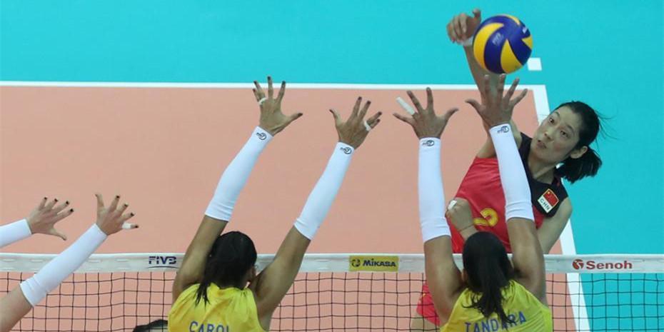 2017世界女排大奖赛总决赛 中国队小组首战力克巴西队